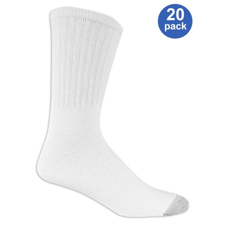 Athletic Works Men's Athletic Cushioned Tube Socks Value 20
