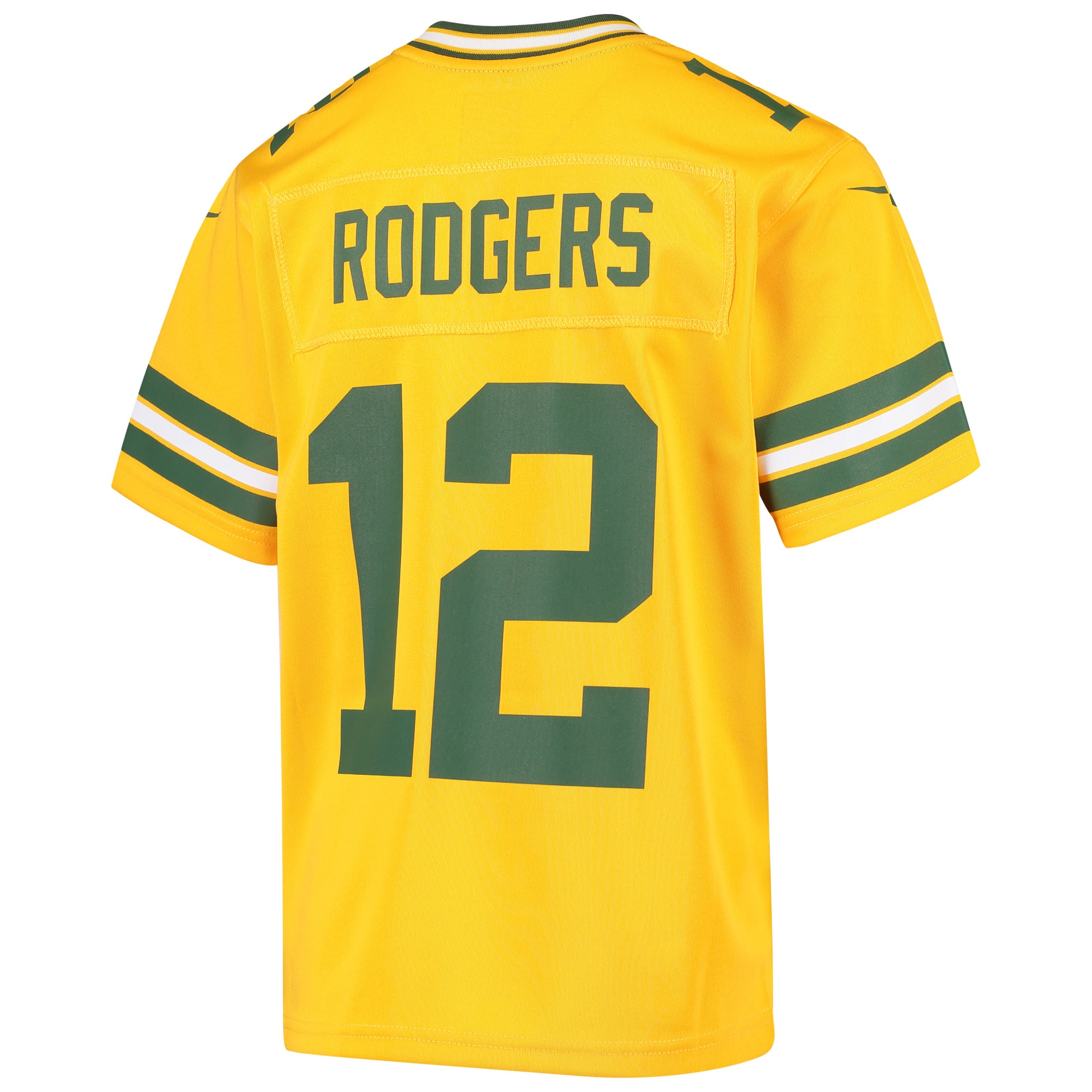 Aaron Rodgers Green Bay Packers Nike Youth Inverted Game Jersey - Gold