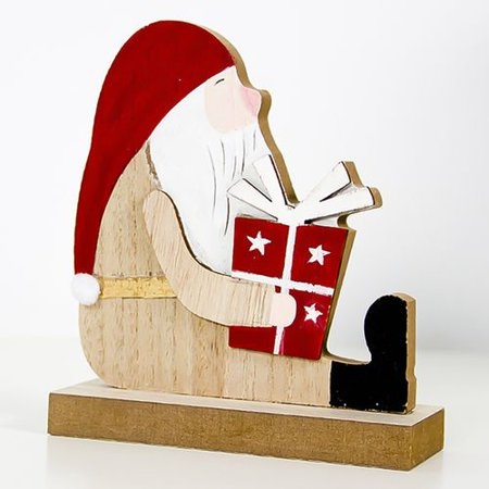 Fancyleo Christmas Santa Claus Snowman Elk Xmas Decoration Living Room Table Ornament Craft ()