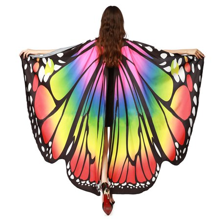 Ladies Soft Fabric Butterfly Wings Shawl Cappa Fairy Nymph Pixie Tippet  Party Costume Decoration Scarf - Walmart.com 91eb13732