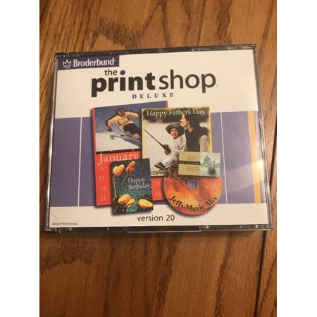 Broderbund The Print Shop Deluxe Version 20 Ships N 24h - Deluxe Printing