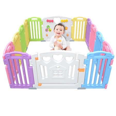 LIVINGbasics Baby Playpen Kids Play Yard 14 Panel Activity Centre Safety for Home/Indoor/ Outdoor - image 9 of 9