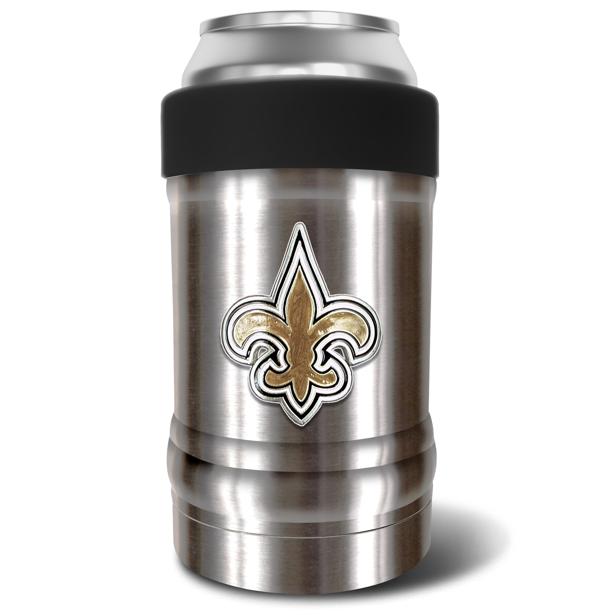 New Orleans Saints The Locker 12oz. Can Holder - Silver/Black - No Size