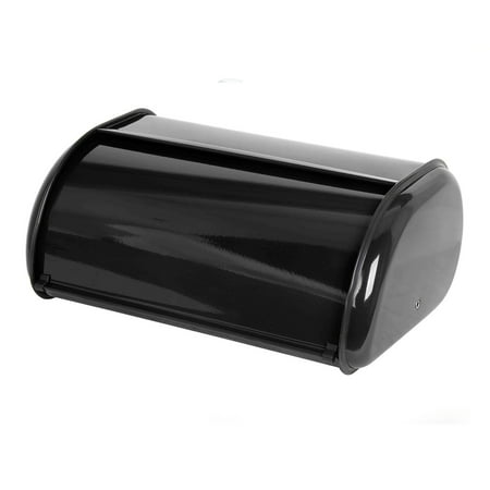Stainless Bread - Home Basics Stainless Steel Cake Bread Box Kitchen Food Storage Container Black