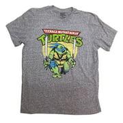 Teenage Mutant Ninja Turtles Leonardo Battle Pose Adult T-Shirt