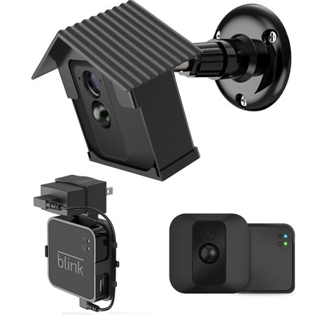 EEEKit 360 Degree Rotate Hard Case Mount Bracket for Blink XT Camera, Weather-proof Indoor/Outdoor Mount Cover for Blink XT Home Security Camera with Outlet Wall Mount Blink Sync Module Stand