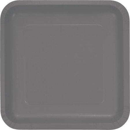 Creative Converting Glamour Gray Paper Plates, 18 ct - Gray Paper Plates