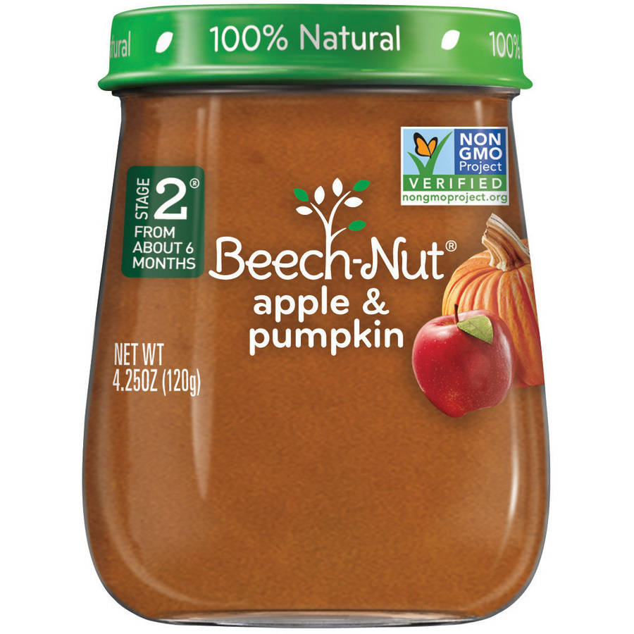 Beech-Nut Naturals Stage 2 Apple & Pumpkin Baby Food, 4.25 oz, (Pack of 10)