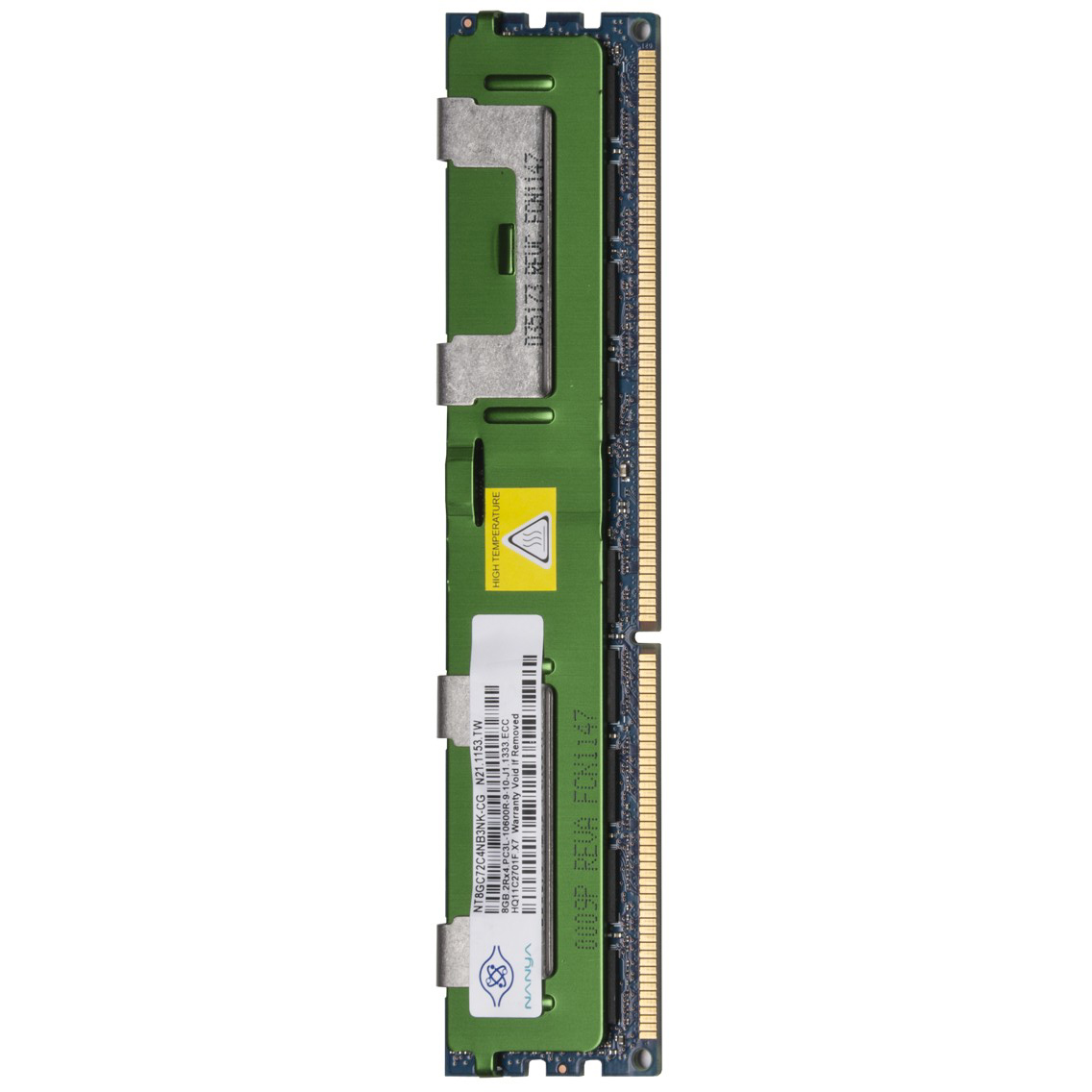Nanya 8GB DDR3 RAM 1333MHz PC3-10600 ECC Registered 240-Pin DIMM w/Heat Spreader
