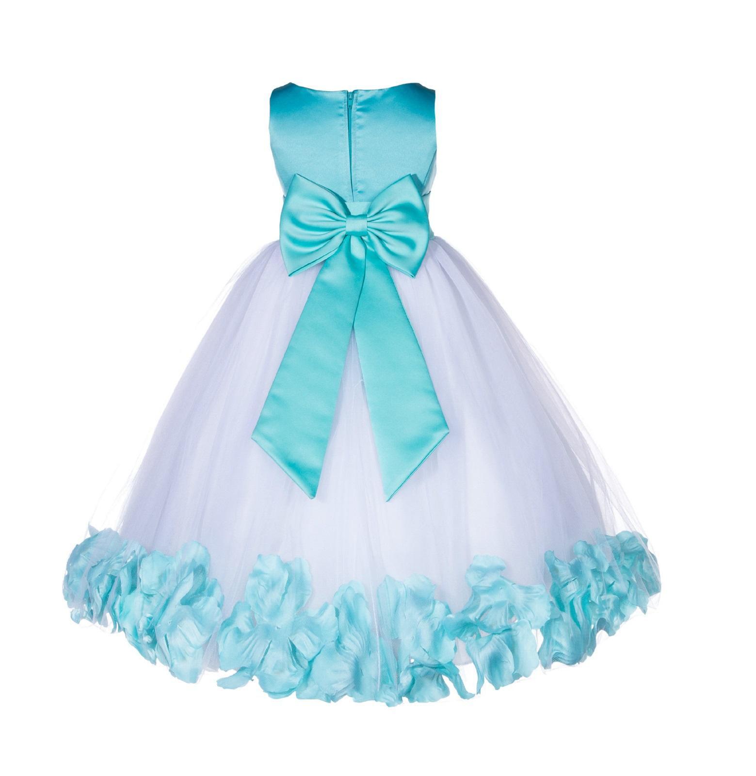Ekidsbridal Rose Petals Tulle Flower Girl Dress Wedding Pageant ...