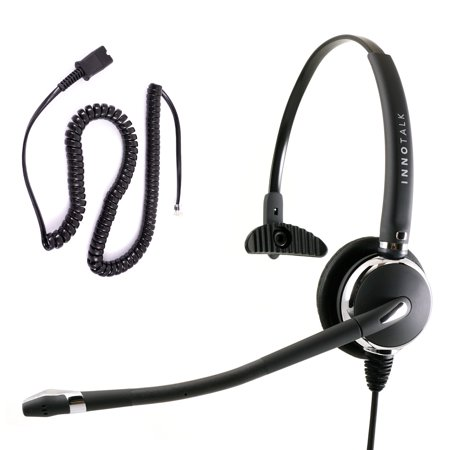 3.5 Mm Headset Adapter Microphone - Cisco 8941, 8945, 8961, 9951, 9971 Phone Headset - Best Monaural Headset with Noise Cancel Mic + Cisco Phone Headset Adapter