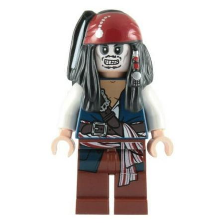 LEGO Minifigure - Pirates of the Caribbean - CAPTAIN JACK SPARROW (Skeleton) Pirates Caribbean Skeleton