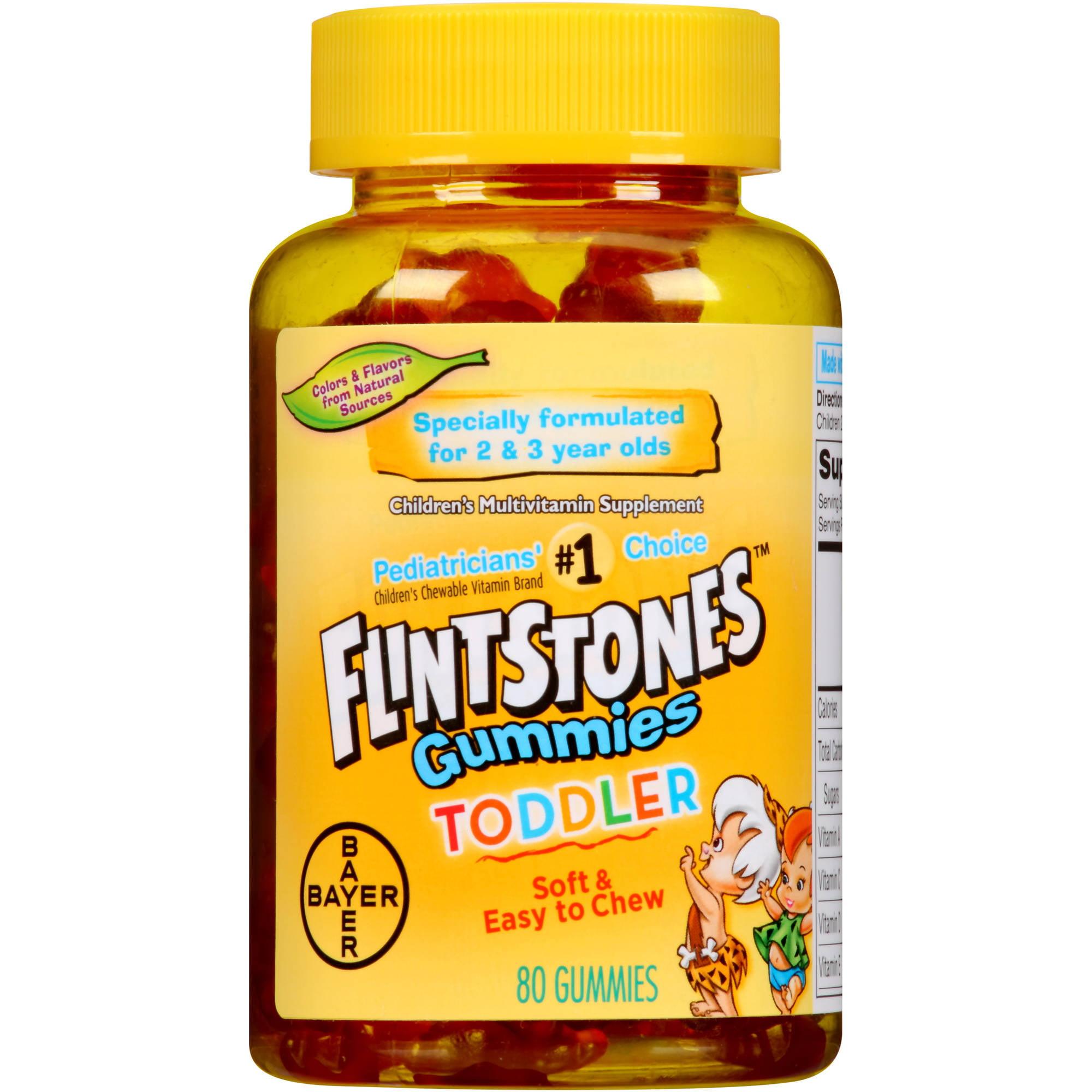 Flintstones Toddler Gummies Children's Multivitamin Supplement, 80 count