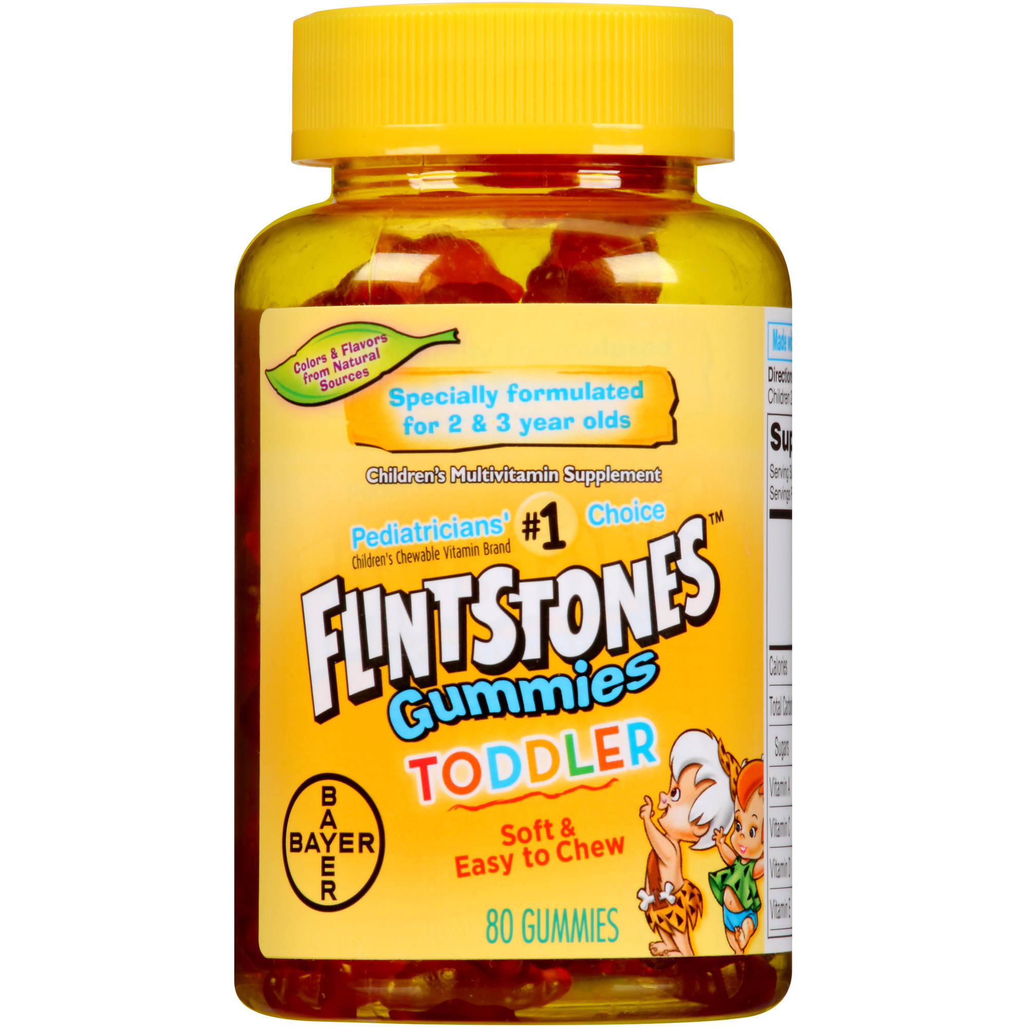 Flintstones Toddler Gummies Children's Multivitamin Supplement, 80 count