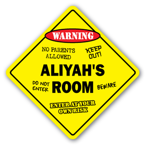 ALIYAH'S ROOM SIGN kids bedroom decor door children's name boy girl gift by SignMission