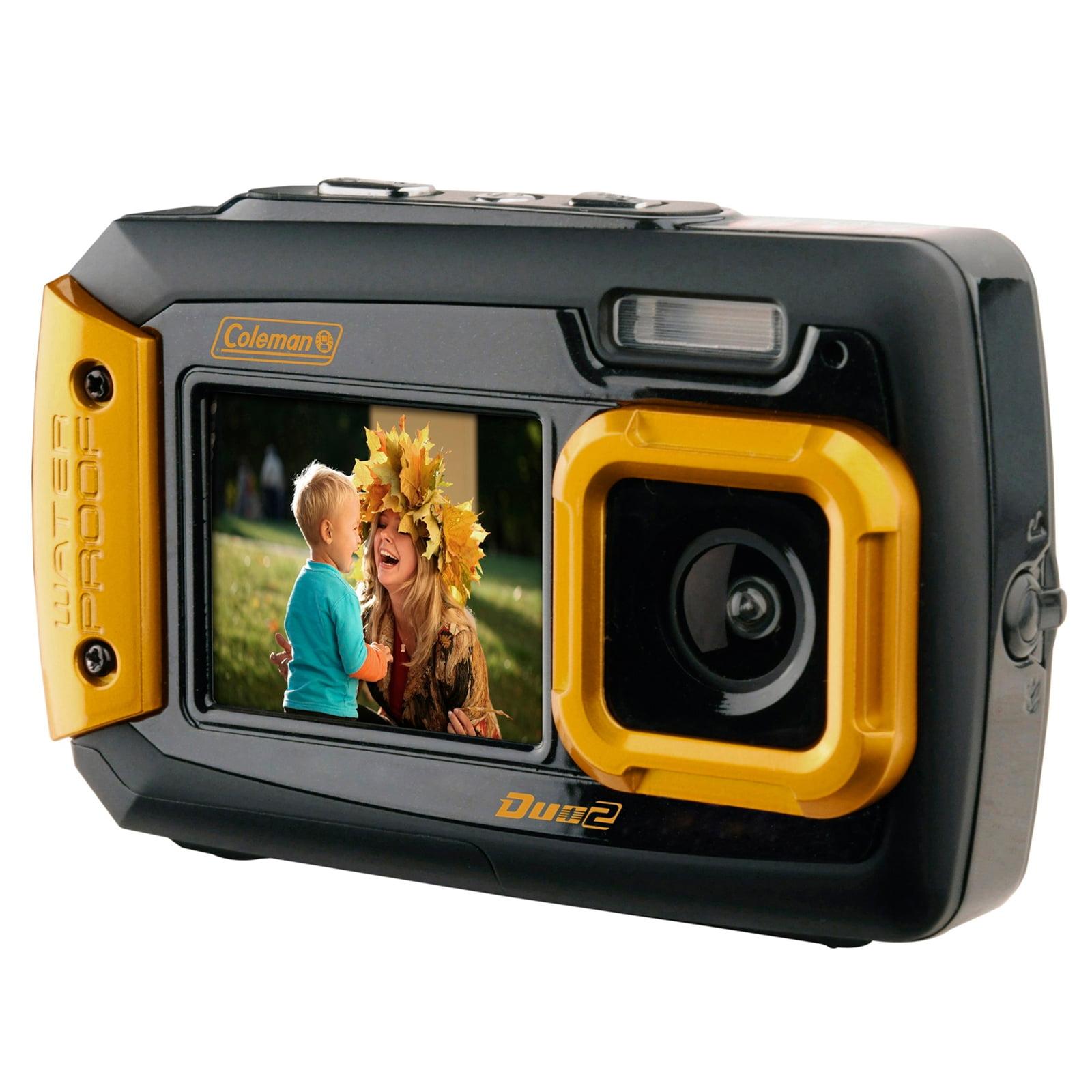 Coleman Duo2 20 MP Waterproof Digital Camera with Dual LCD Screen-Orange