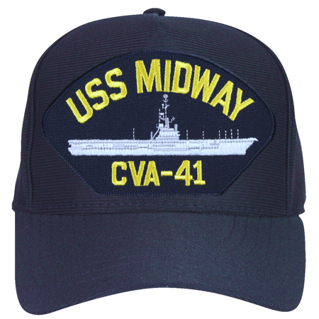USS Midway CVA-41 Ships Ball Cap ()