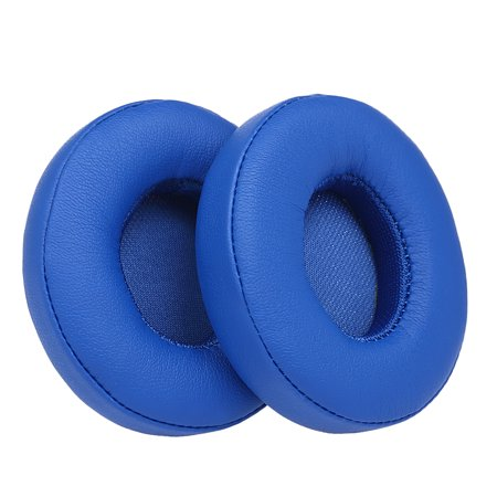2Pcs Replacement Earpads Ear Pad Cushion for Beats Solo 2 / 3 On Ear Wireless Headphones