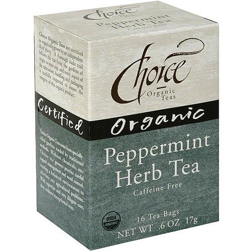 Choice Organic Teas Organic Peppermint Tea, 16BG (Pack of 6)