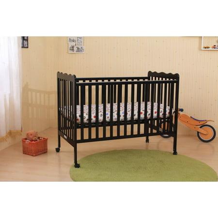 callie black wood transitional portable baby crib with spring mattress support adjustable. Black Bedroom Furniture Sets. Home Design Ideas