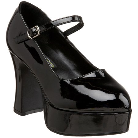 Mary Jane Black Platform Shoes Women's Adult Halloween Accessory