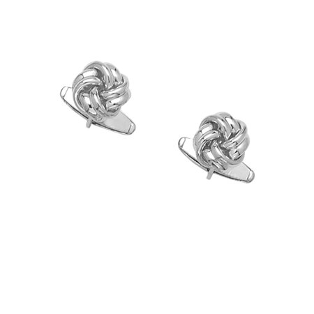 925 Sterling Silver Solid Love Knot Cuff Links-86651