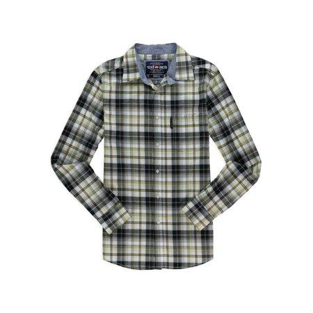 Ecko Unltd. Mens Yarn Dye Woven Button Up Shirt black - Woven Yarn Dye