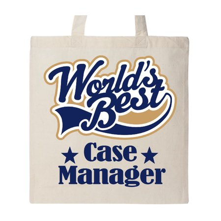 World's Best Case Manager Tote Bag Natural One Size