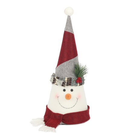 1125 holiday time snowman tree topper