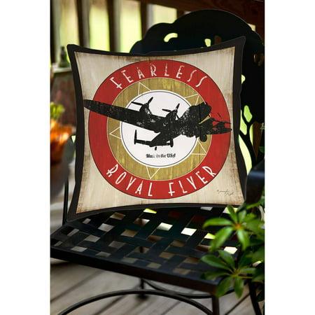 Thumbprintz Vintage Airplane Indoor/Outdoor (Best Airplane Pillows)
