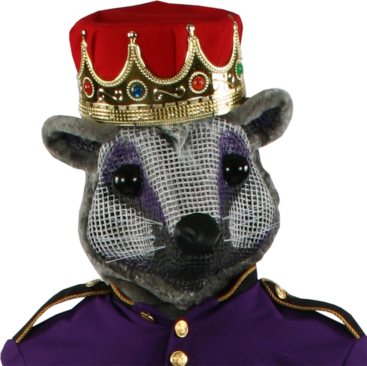 Morris costumes AD92RD Mouse King Head W Red Crown