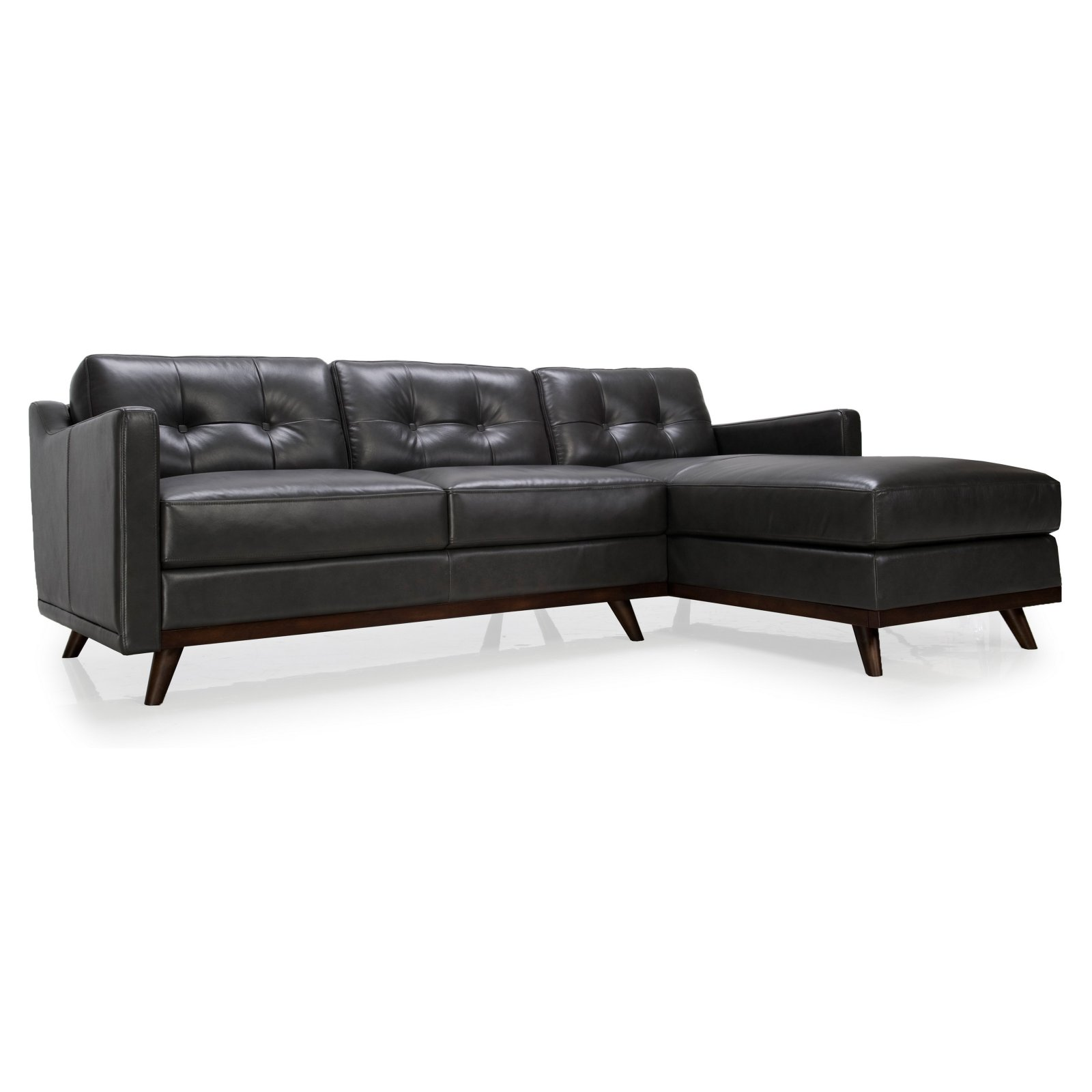 Moroni Monika Leather Sectional Sofa Walmart Com