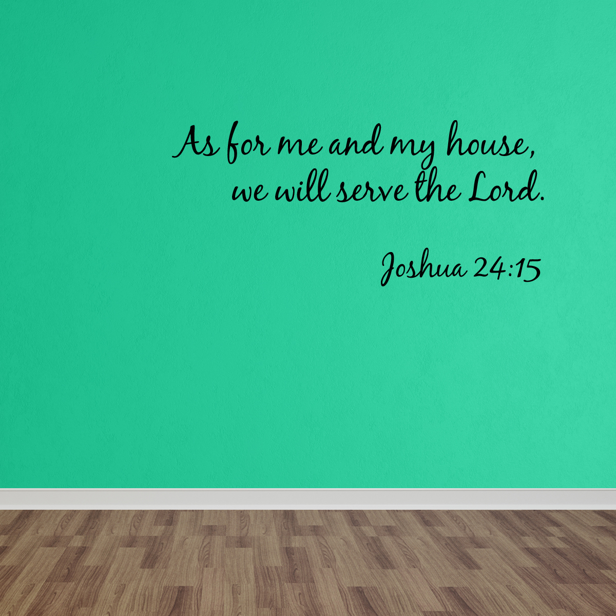 Wall Decal Quote As For Me And My House Bible Verse Decal Quote Christian Decal DP51