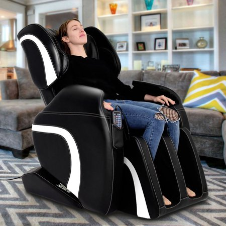 Full Body Massage Chair (Costway Electric Full Body Massage Chair Recliner Shiatsu 22 Airbags Adjustable)