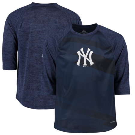 New York Yankees Majestic Season Dedication Three-Quarter Sleeve Raglan T-Shirt - Navy