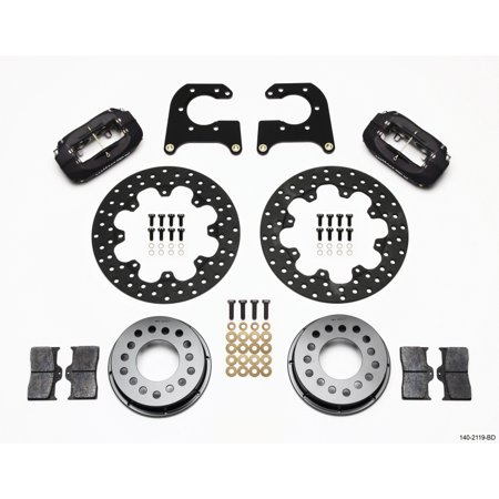 Wilwood Rear Disc Brakes (Wilwood Forged Dynalite Rear Drag Kit Drilled Rotor New Big Ford 2.50in)