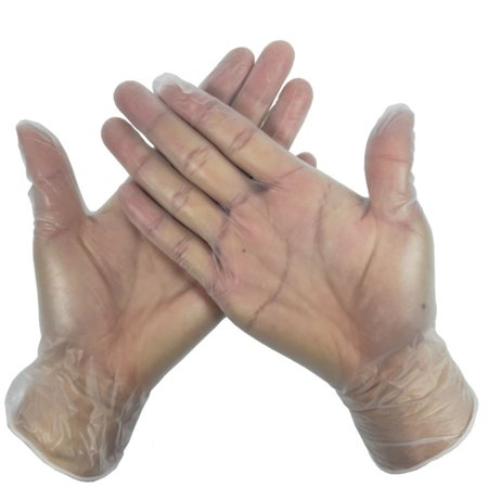HealthStore 9 Inch Transparent Micro-Elastic Pvc Rubber Gloves Disposable Medical Gloves - image 4 of 6