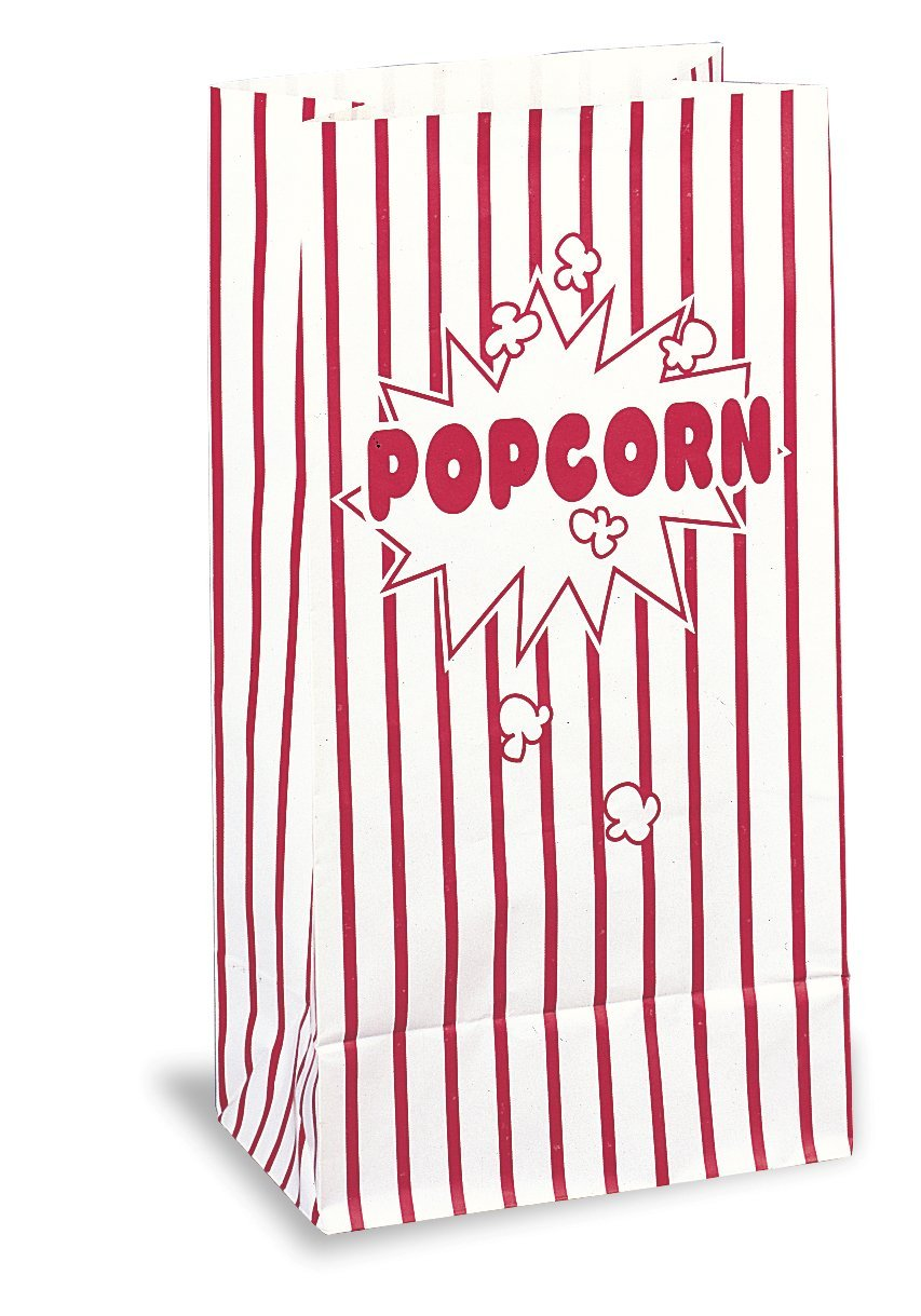 Red & White Striped Paper Popcorn Bags, 10ct, Fast shipping,Brand Reynolds by