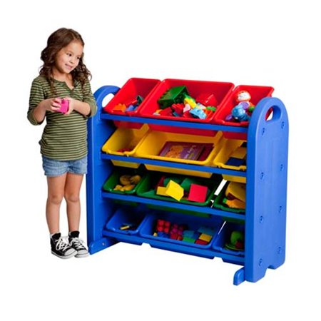 Early Childhood Resources ELR-20401 4-Tier Plastic Storage Organizer Early Childhood Mobile Organizers