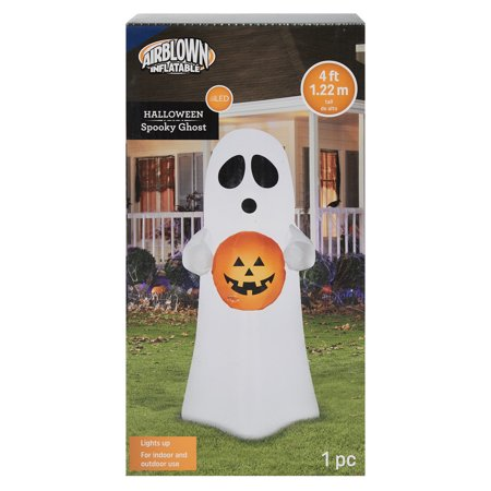 Airblown Inflatable Halloween Spooky Ghost Inflatable, 4'