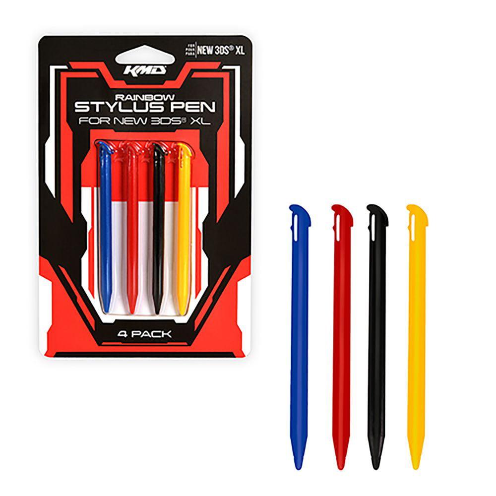 For Nintendo 3DS-XL 6 Stylus Pens Pack KMD BLACK RED BLUE (Pen Styluses Set) - image 1 de 1