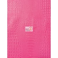 Aquaguard® Crocodile Marine Vinyl Fabric - Auto/Boat - Upholstery Fabric / Kiss Fuchsia / Sold By The Yard