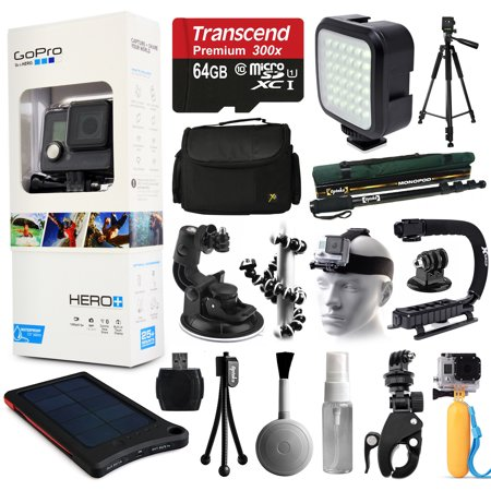 gopro hero camera camcorder chdhc 101 with extreme accessories bundle includes 64gb card. Black Bedroom Furniture Sets. Home Design Ideas