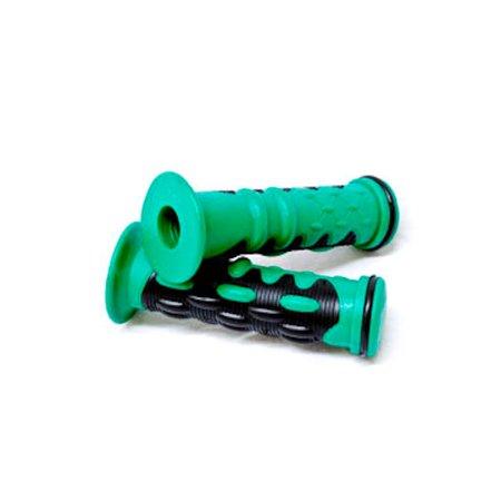 "Green Motorcycle Rubber Hand Grips 7/8"" Bars For Suzuki GSXR 600 750 1000 1300 - image 4 de 5"