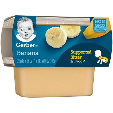 Gerber 1st Foods Bananas Baby Food 2 5 Oz Tubs 2 Count