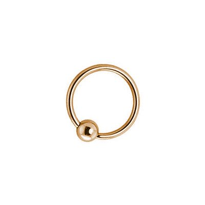 "14k Solid Gold Captive Bead Ring 14 Gauge 7/16"" Inch"
