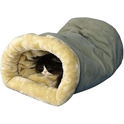 Heated Pet Bed Dog Cat Winter Warm Soft Cave Sleeping Shelter Rescue Plush Nest