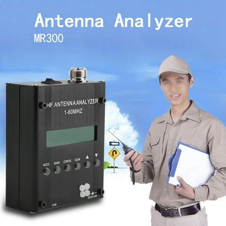 Anauto Antenna Analyzer, Shortwave Antenna Analyzer,MR300 Digital Shortwave Antenna Analyzer Meter Tester 1-60M For Ham