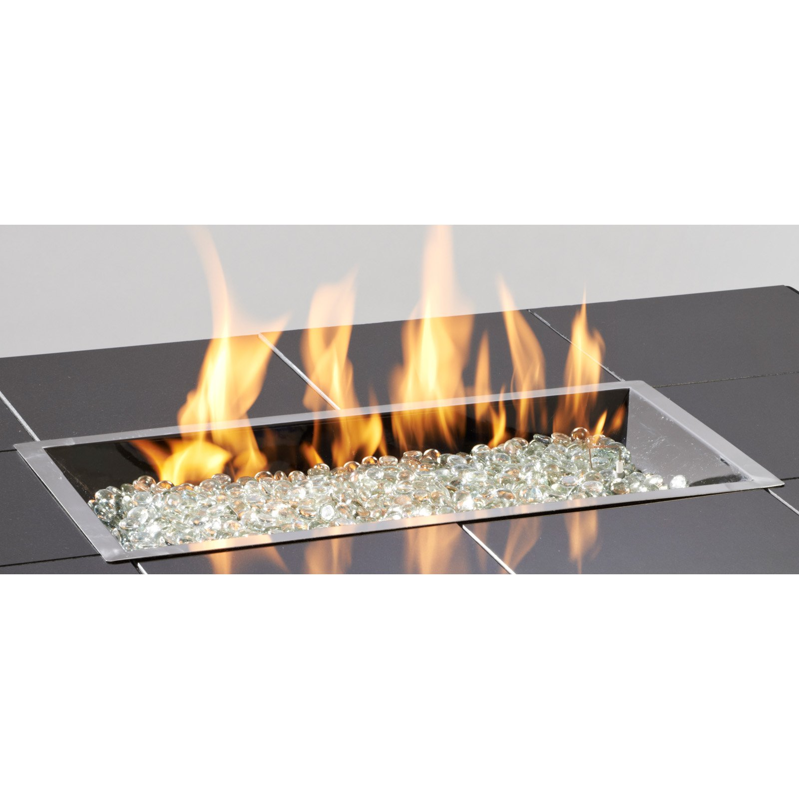 Outdoor GreatRoom CF-1224-BRN Honey Glow Brown Color Coated Crystal Fire Burner, 12x 24 Rectangle