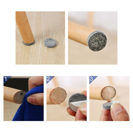 Furniture Pads Adhesive Felt Pads 23mmx3mm Floor Protector Round Gray 48Pcs - image 2 of 6